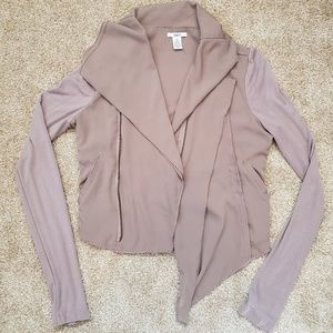 Bar III Women's Draped Crop Blazer